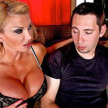 Lustful mommy Taylor Wane fucks her daughter's boyfriend