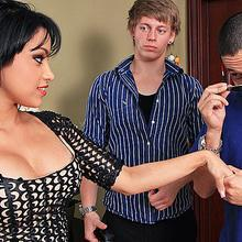 Sex starved wife Abella Anderson cheats on her husband with his best friend